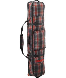 Burton Wheele Board Case Snowboard Bag Black Plaid 166cm