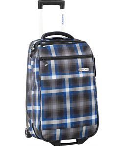 Burton Wheelie Flight Deck Travel Bag Cobalt Springer Plaid