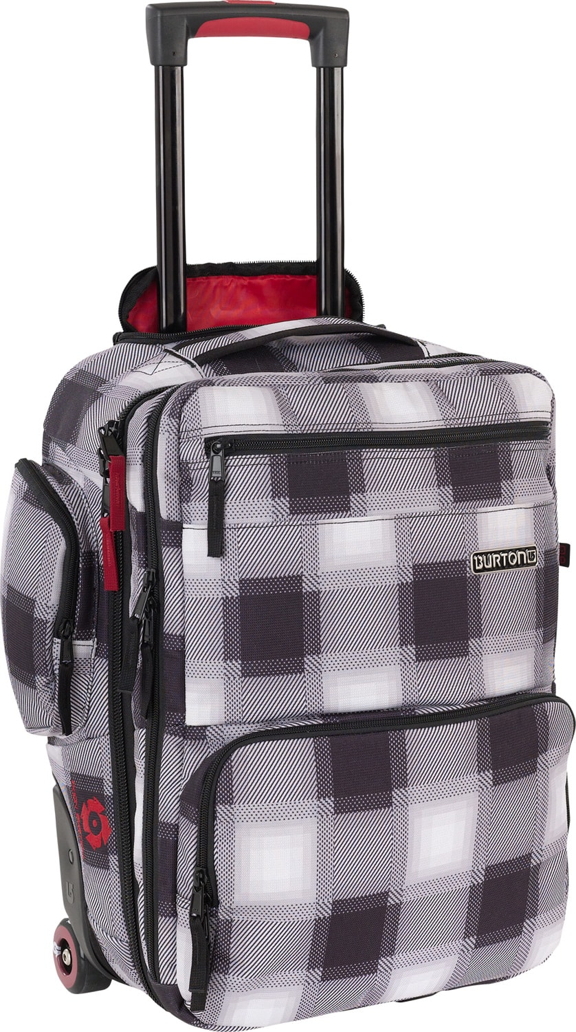 Shop for Burton Wheelie Flyer Travel Bag True Black Bobber Plaid - Men's
