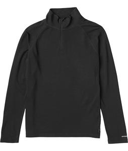 Burton Wool 1/4 Zip Baselayer Top True Black