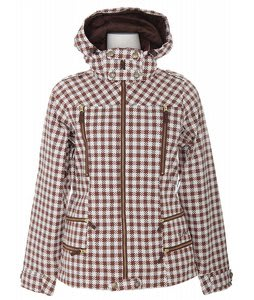 Burton Elevation Snowboard Jacket Chestnut Gingham Plaid Print