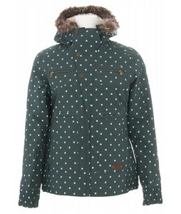 Burton Lush Snowboard Jacket Forest Polka Squares Print