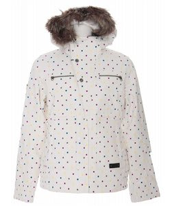 Burton Lush Snowboard Jacket Multi Polka Squares Print