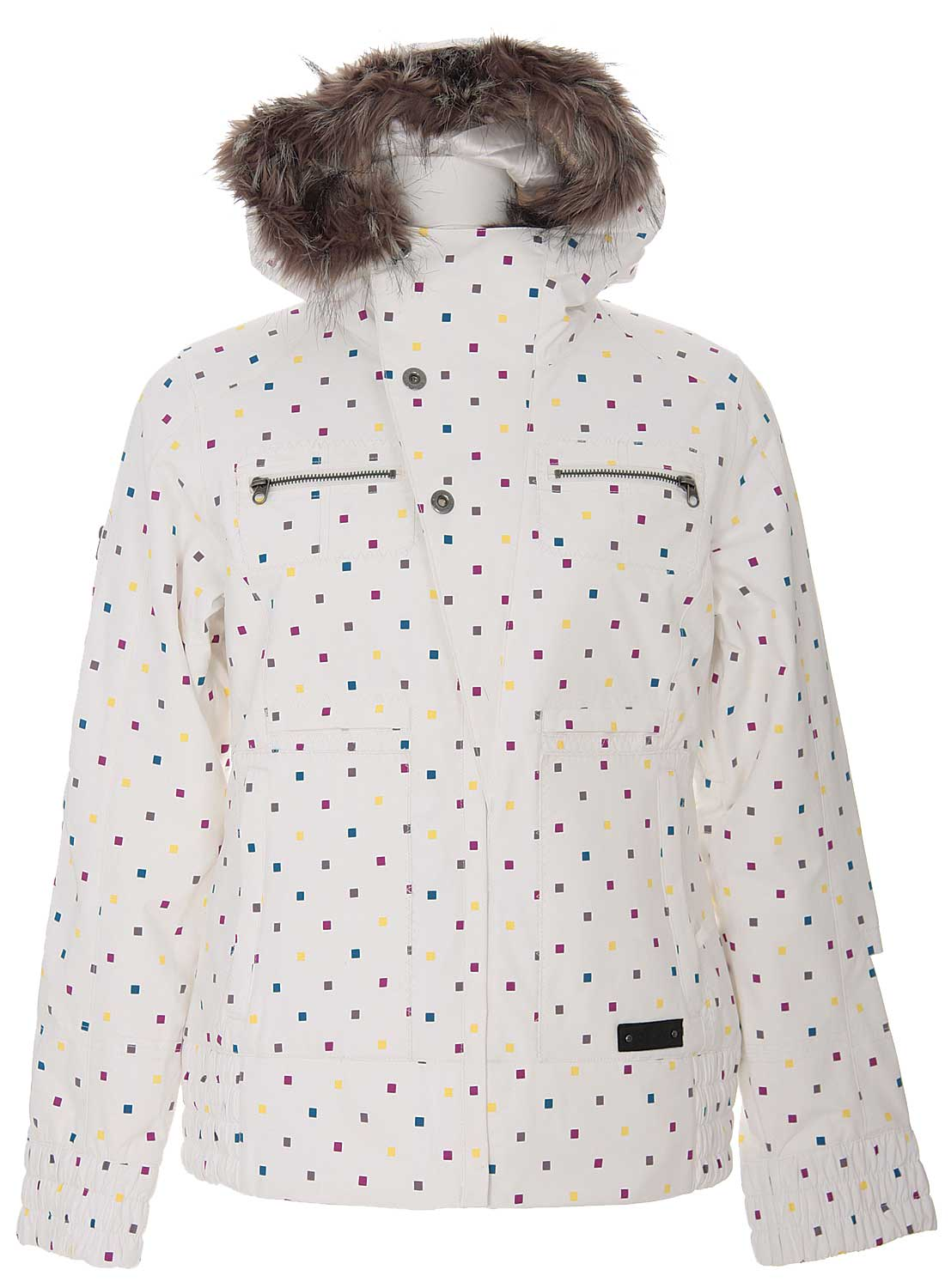 Shop for Burton Lush Snowboard Jacket Multi Polka Squares Print - Women's