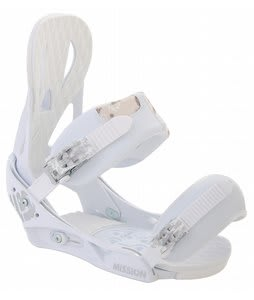 Burton Mission Snowboard Bindings White