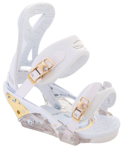 Burton P1.1 Snowboard Bindings White/Gold