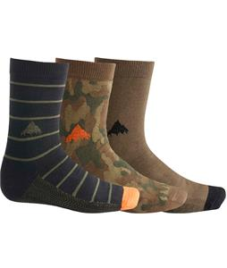 Burton Apres 3-Pack Socks Multi Camo