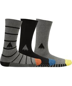Burton Apres 3-Pack Socks Multi Grey