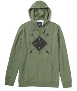 Burton Camp Arrowhead Recycled Full-Zip Hoodie Heather Olive