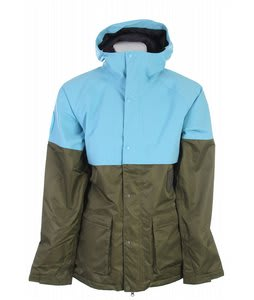 Burton Restricted Chigurh Snowboard Jacket Post It Blue/Tr Grn