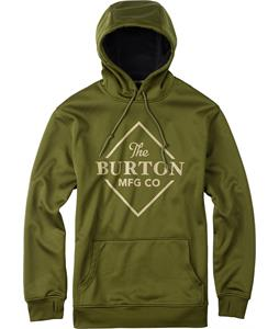 Burton Crown Bonded Pullover Hoodie Rifle Green Heather