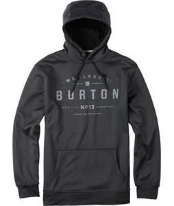 Burton Crown Bonded Pullover Hoodie True Black Heather
