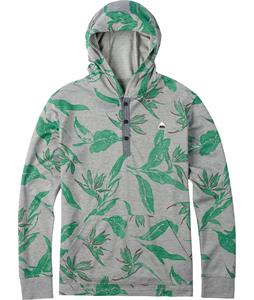 Burton Dexter Hooded Henley Monument Heather Hawaiian Print