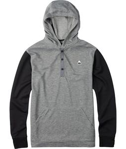 Burton Dexter Hooded Henley True Black Heather