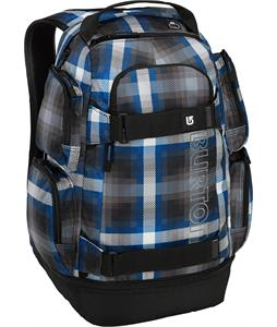 Burton Distortion Backpack Cobalt Springer Plaid 29L
