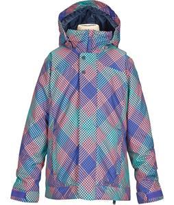 Burton Elodie Snowboard Jacket Checkers Print