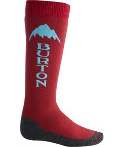 Burton Emblem Socks Crimson