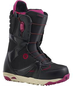 Burton Emerald Snowboard Boots Black/Burgundy/Cream
