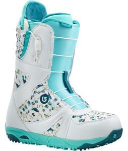 Burton Emerald Snowboard Boots White/Teal/Hummingbird