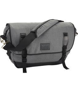 Burton Flint Messenger Bag Gray Wool Leather 20L