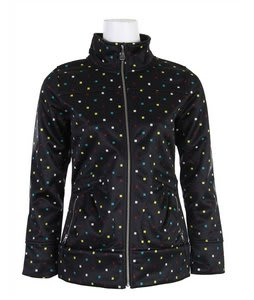 Burton Freedom Softshell Jacket Black Polka Squares