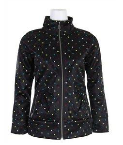 Burton Freedom Softshell Jacket Black Polka Squares