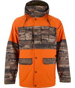 Burton BRTN Frontier Snowboard Jacket Jersey Tan/Camo Tie Dye Stripe