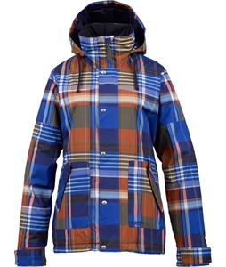 Burton Ginger Snowboard Jacket Cornflower Huntsman Plaid