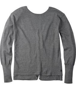 Burton Gracen Reversed Cardigan Sweater Dark Ash Heather
