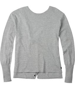 Burton Gracen Reversed Cardigan Sweater High Rise Heather
