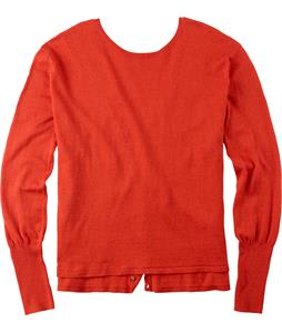 Burton Gracen Reversed Cardigan Sweater Red Clay Heather