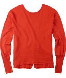 Burton Gracen Reversed Cardigan Sweater Red Clay Heather