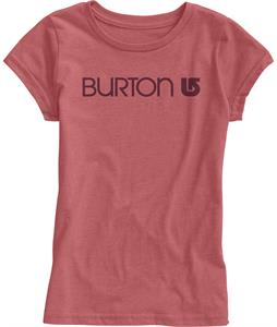 Burton Her Logo T-Shirt Heather Cardinal