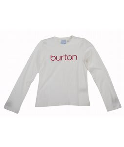 Burton Her Logo L/S T-Shirt Bright White