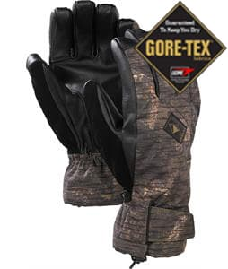 Burton Leather Gore-Tex Gloves Peat Camo
