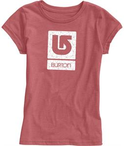 Burton Logo Fill T-Shirt Heather Cardinal