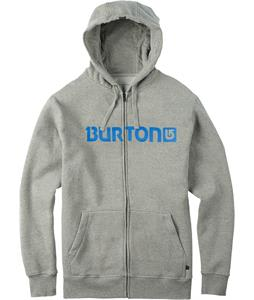 Burton Logo Horizontal Full-Zip Hoodie Gray Heather