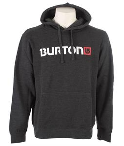 Burton Logo Horizontal Hoodie Heather True Black