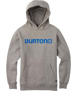 Burton Logo Horizontal Pullover Hoodie Gray Heather