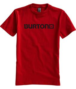 Burton Logo Horizontal T-Shirt Red