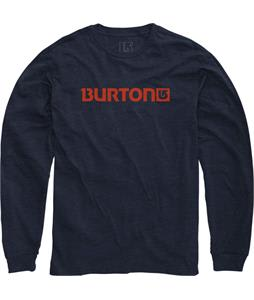 Burton Logo Horizontal L/S T-Shirt Eclipse Heather