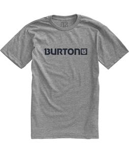 Burton Logo Horizontal T-Shirt Gray Heather