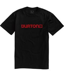Burton Logo Horizontal T-Shirt True Black