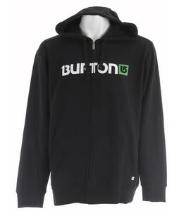 Burton Logo Horizontal Fullzip Hoodie True Black