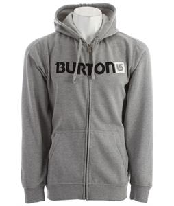 Burton Logo Horizontal Fullzip Tsa Hoodie Heather Grey
