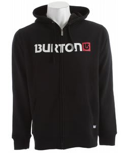 Burton Logo Horizontal Fullzip Tsa Hoodie True Black