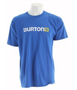 Burton Logo Horizontal T-Shirt Royal/Yellow