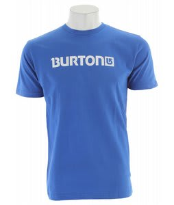 Burton Logo Horizontal T-Shirt Royal/White