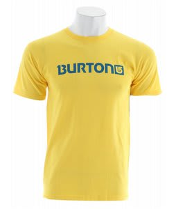 Burton Logo Horizontal T-Shirt Solar Yellow