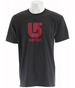 Burton Logo Vertical T-Shirt True Black/Red